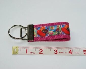 Custom Pink Candy Crush Keychain