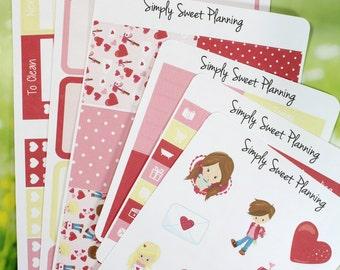 Valentines Kids Planner Sticker Kit - Happy Planner - Erin Condren - Plum Planner - Functional Stickers - Matte - Weekly Planner