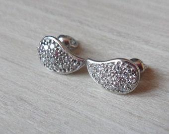Silver Stud Earrings Studs Drops Screw Back Stud Earrings Bridesmaids Teardrop Screw Back