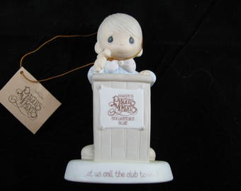 Precious Moments Collectors club let us call the club to Order 1983 vintage figurine
