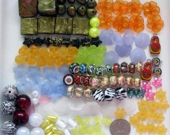 Bulk Lot Beads 153 Pcs Mixed | Acrylic Beads | Lucite Beads | Plastic Beads | Beads for Jewelry Making | Jewelry Beads | Craft Beads
