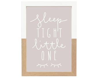 Grey Nursery Print Sleep Tight Little One   Nursery Decor, Grey Nursery, Kids Prints, Quote Print, Scandi Print, Wall Art, Nursery Prints