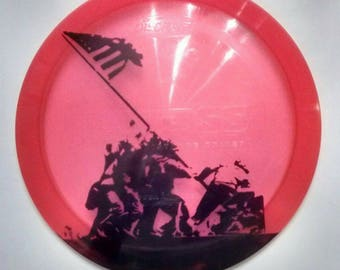 Iwo Jima Flag Raising Disc Golf Disc-  Innova or Discraft Discs- United States Marine Corps- Great Gift for Graduation or Christmas