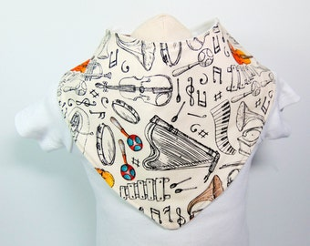 Bandana Bib Musical Instruments READY TO SHIP