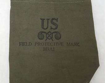 Vintage Military Issued Gas Mask Bag