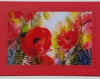 Note Card Poppies