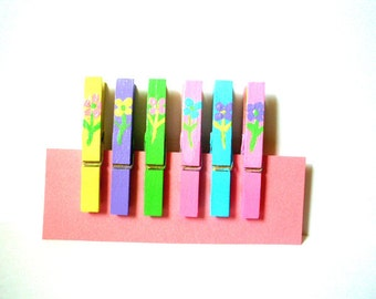 Painted Clothespins--Spring Flowers
