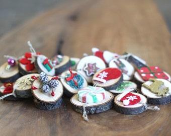 Christmas Advent Calendar Ornaments, (25)