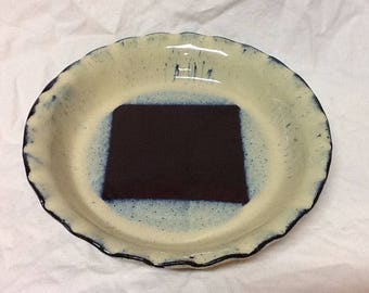 Stoneware Pie Plate-  Stone Penguin Pottery