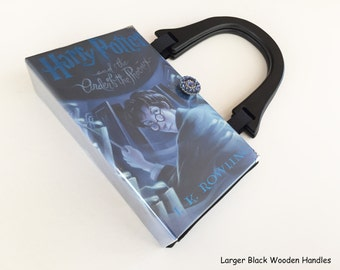 Harry Potter and The Order of The Phoenix Book Purse - Harry Potter Collector Gift - Harry Potter Book Cover Handbag - Muggle Book Clutch