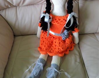 Handmade Crochet Doll Soft Toy for Collectors/ Special Gift for Kids