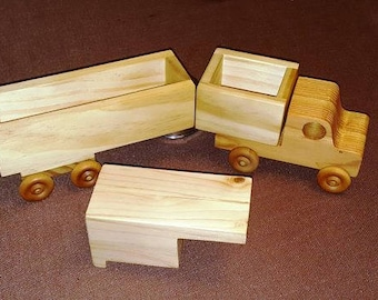 Toy Wooden Truck - 3 in 1