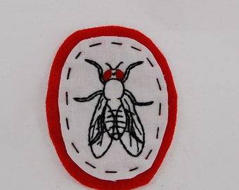 Fruit Fly Drosophila Embroidered Patch