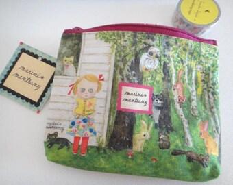 Kawaii zipper bag - Small cosmetic pouch - Medicine pouch - Kawaii Cosmetic Bag - Waterproof pouch - Small Makeup Bag - PVC fabric pouch