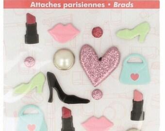 BRADS Artemio Brads - 20 Fashionista SISSI SCRAP SCRAPBOOKING brads