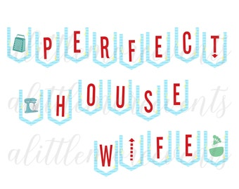 Bunting Banner - 1950s Retro Housewife - Perfect Housewife