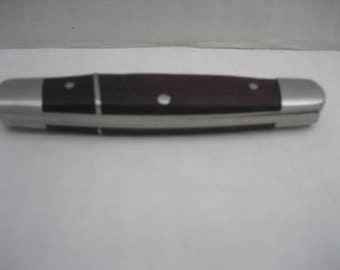 Vintage WINCHESTER Dual Blade Black & Brown Canoe Folding Pocket Knife
