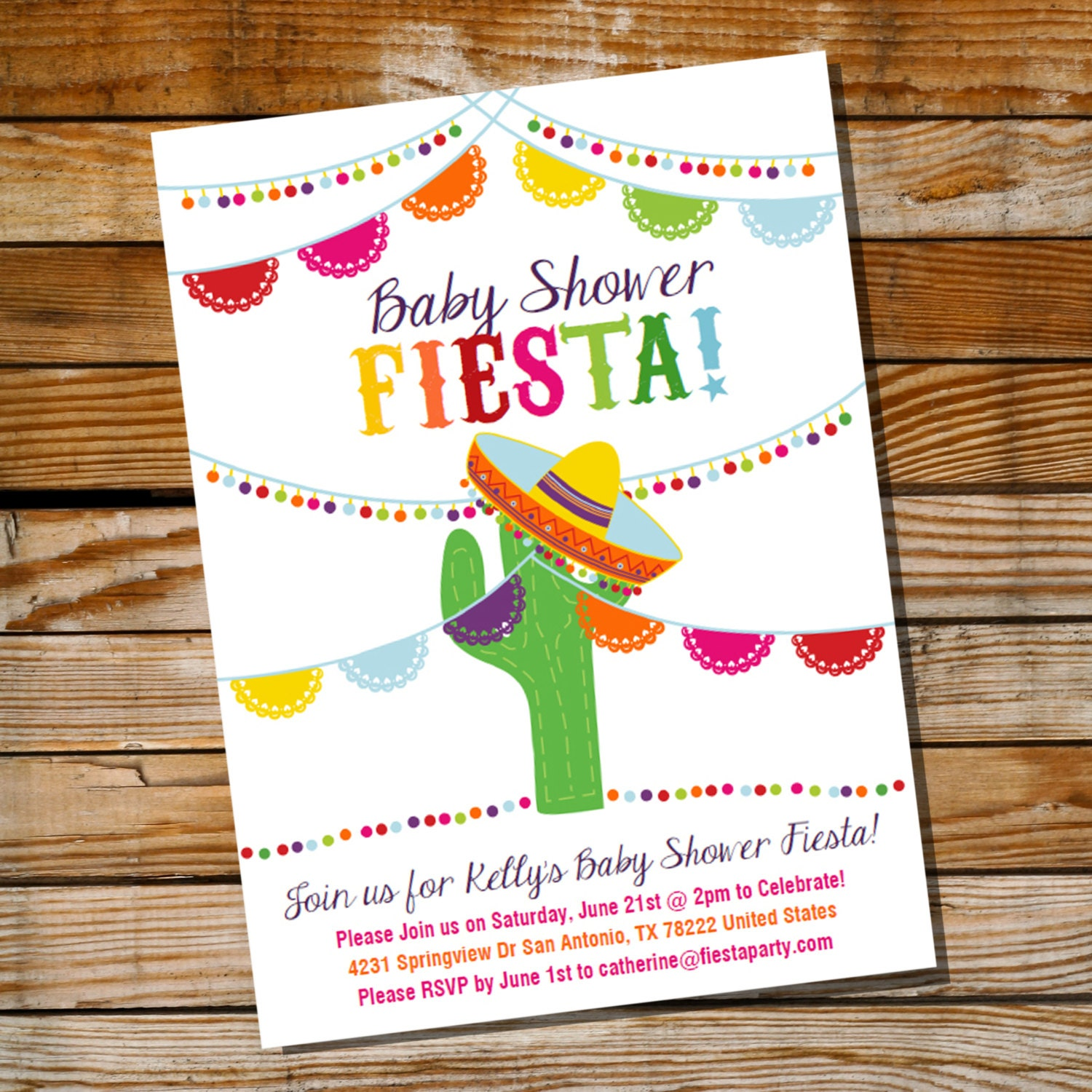 Mexican Fiesta Baby Shower Invitation Baby Shower Fiesta