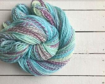 Pastels Hand Spun Yarn Merino Wool Nylon Firestar Sparkle Art Yarn