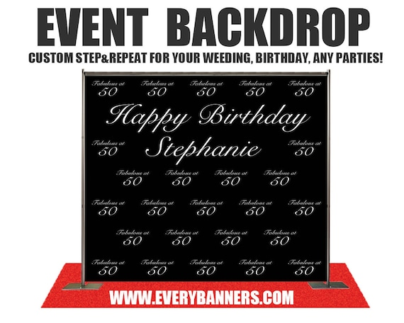 Super Custom Step and Repeat Photo Backdrop for Weddings,Birthday,baby  RK51
