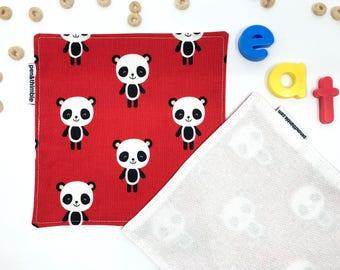 Red Panda Napkins (Reusable Napkins, Set Of Two Napkins, Eco Friendly Cloth Napkins, Gift Under 15, Kawaii Panda, Small Kids Napkins)