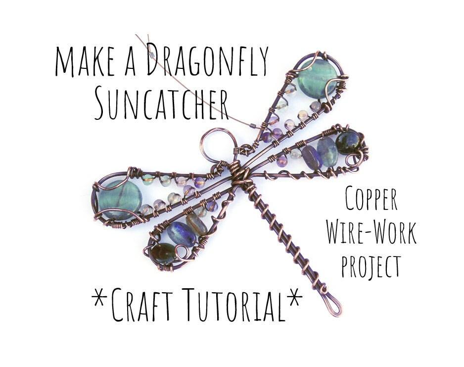 Wirework Tutorial, Dragonfly Suncatcher, Beading Tutorial, Wire Wrap ...