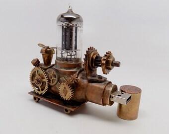 "Stempunk ""Airship"" flash drive. Steampunk usb flash drive 32GB. steampunk sculpture."