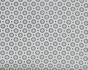 Black and White Circle and Dot Low Volume 100% Cotton Quilt Fabric, Basically Low Collection by Red Rooster Fabrics, RER467326519-BLA1