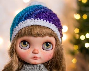Blythe twisted pompom beanie - Holiday Edition #5