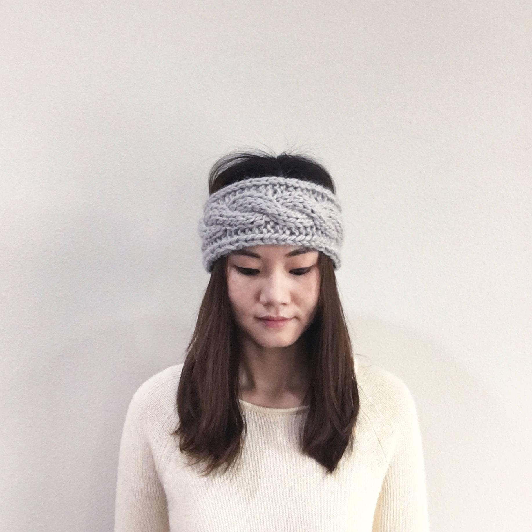PATTERN-Adult Chunky Cable Knit Headband | Winter Headband | Ear ...