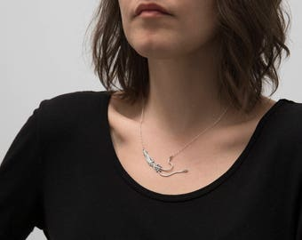 Squid Necklace - Squid Jewelry - Silver Squid - Cephalopod - Tentacle Jewelry - Kraken - Marine Biology - Ocean Conservation - Charity