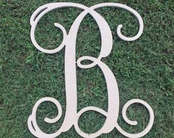 """Wood Letters - Unfinished - 1/4"""" MDF - Vine Font"""