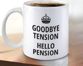 Retirement Gift For Men Women Funny Retirement Mug For Coworker Goodbye Tension Office Gag Coffee Mug