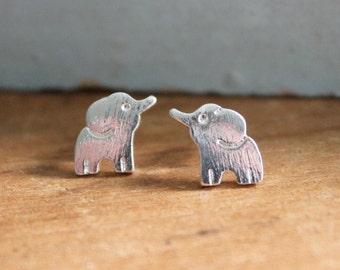 Delicate Elephant Earrings | Dainty Elephant Jewelry