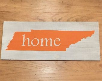 Tennessee Home Sign - Tennessee Sign - Tennessee - State Sign