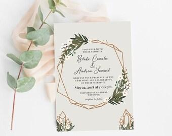 Wedding Invitation | Modern Wedding Invitation | Digital Invitation | Printable