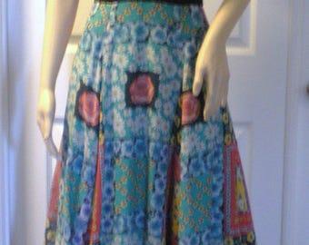 Ladies Dress Vintage 70's Boho Hippie Flower Power Maxi Small