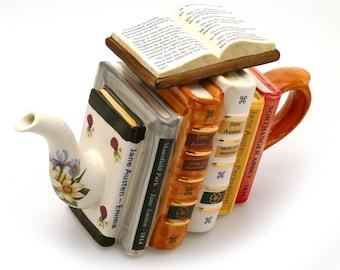 Jane Austen Books Teapot