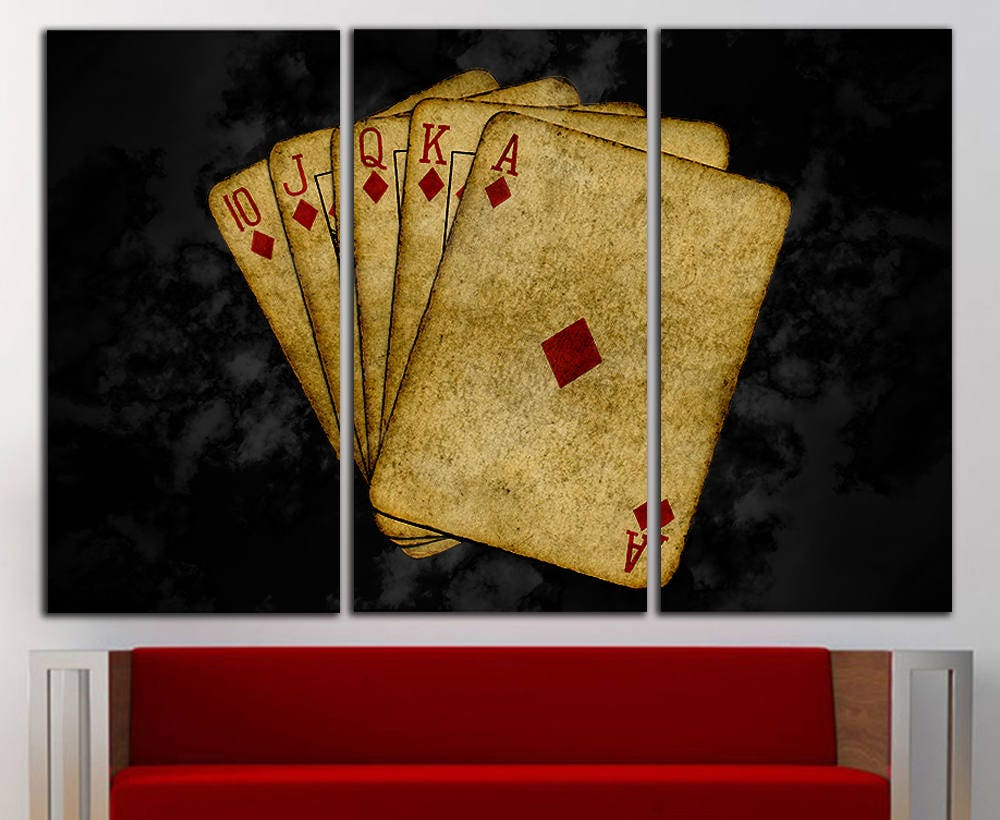 Poker Cards canvas Poker Cards print Cards large Poker print