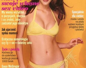 Cosmopolitan 1998  Polish Edition  Fernanda Taveres Cover  Laetitia Casta in Ad  Natalie Wood as Stripper  Ewan McGregor  Miss World more