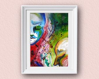 Abstract Wall Art - Faces - Abstract Art - Giclee Art Print