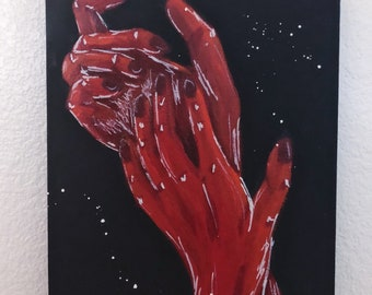 Duotone Hands Acrylic on Canvas