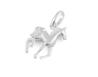 Sterling Silver Horse Charm Pendant