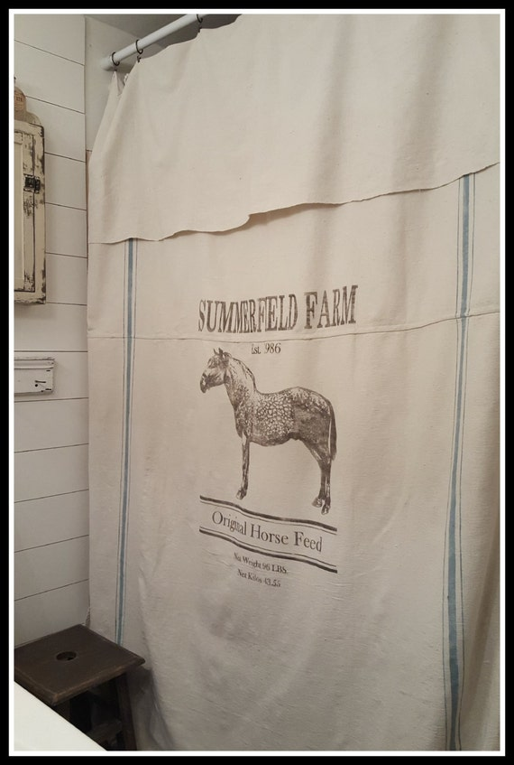 Superb Personalized Horse Feed Grain Sack Window/Shower Curtain