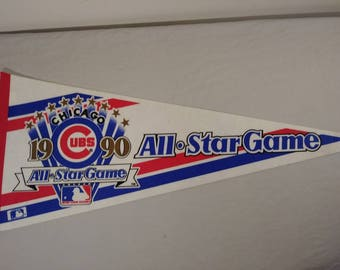 Vintage MLB Chicago Cubs All Star Game Pennant Banner/ Flag