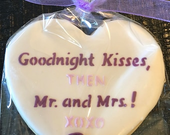 Decorated WEDDING rehearsal, engagement, bridal shower party themed sugar cookies flowers roses ribbons