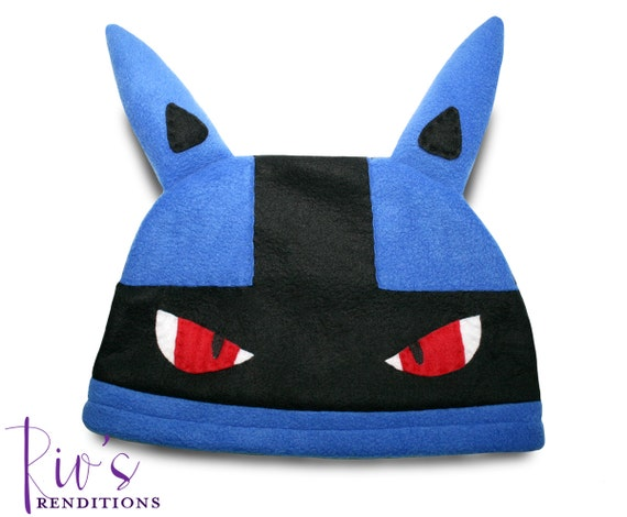 Pokemon lucario hat fleece hat winter hat pokemon hat pokemon fleece hat video game characters
