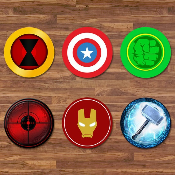 the avengers cupcake toppers avengers stickers logos