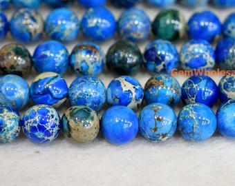 "15.5"" High quality blue emperor jasper round beads 8mm/10mm,Sea Sediment Imperial Jasper,semi precious stone,blue Aqua Terra Jasper"