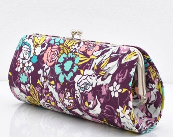 Millefiori in Dark - Patricia Bravo - Bespoken Collection ..Small Clutch Purse